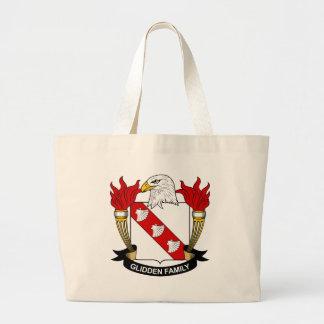 Glidden Family Crest Large Tote Bag