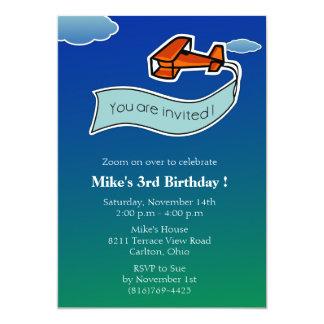Glider -Birthday Party Invitation-2 Card