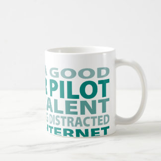 Glider Pilot 3% Talent Basic White Mug