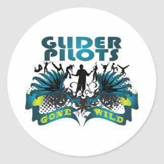 Glider Pilots Gone Wild Round Sticker