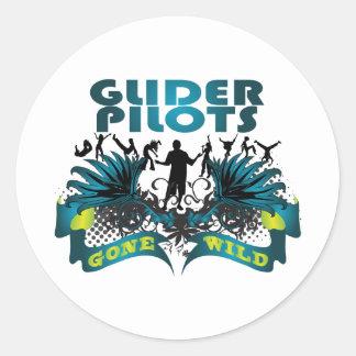 Glider Pilots Gone Wild Classic Round Sticker