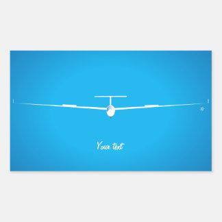 Glider Rectangular Sticker