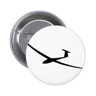 glider sailplane 6 cm round badge