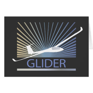Glider Sailplane Aircraft Greeting Cards