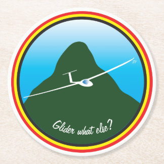 Glider - What else? Round Paper Coaster