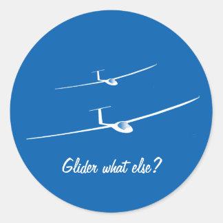 Glider - What else? Round Sticker