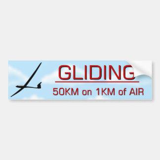 GLIDING 50KM BUMPER STICKER