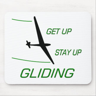 Gliding ... Get up  Stay up Mouse Pad