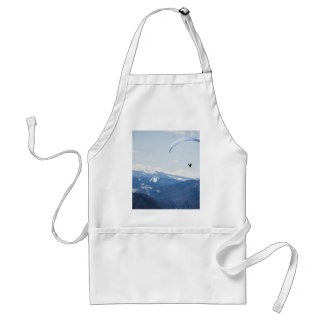 Gliding over chain of mountains standard apron