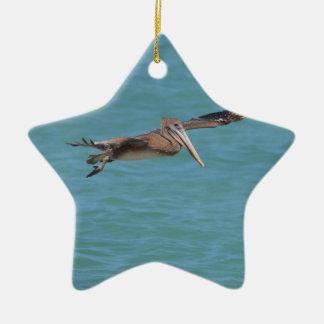 Gliding Pelican Christmas Ornament
