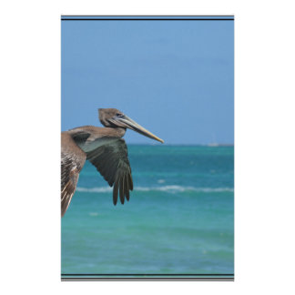 Gliding Pelican Customized Stationery