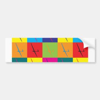 Gliding Pop Art Bumper Stickers