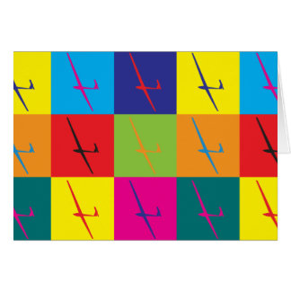 Gliding Pop Art Card