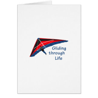 Gliding Through Life Greeting Card