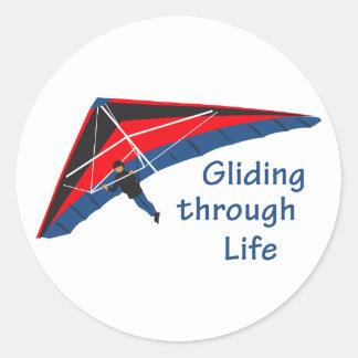 Gliding Through Life Round Sticker