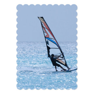 "Gliding Windsurfer 5"" X 7"" Invitation Card"