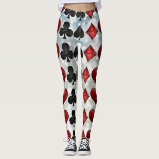 Glimmer Designs Playing Card Suit Print Leggings
