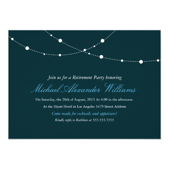Glimmering Lights Retirement Party Invitation