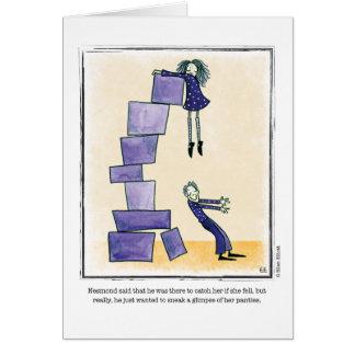 GLIMPSE cartoon by Ellen Elliott Greeting Card