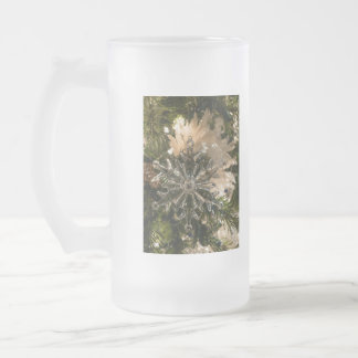 Glistening Holidays Frosted Glass Beer Mug