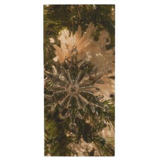 Glistening Holidays Wood USB 3.0 Flash Drive