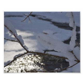 GLISTENING WINTER CREEK PHOTOGRAPH