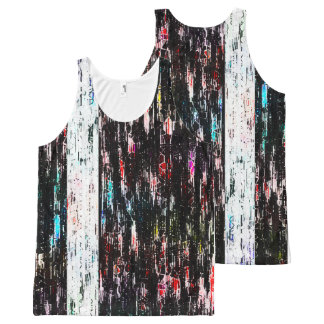 glitch abstract All-Over print tank top