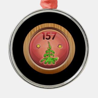 Glitch: achievement aggressive agrarian christmas ornament