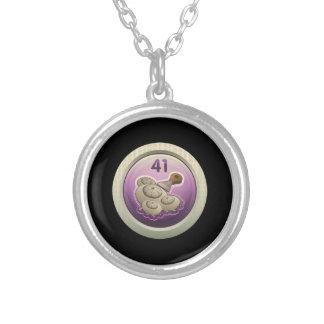 Glitch: achievement amateur decrustifier round pendant necklace