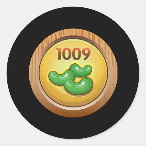 Glitch: achievement bean counter pro round stickers