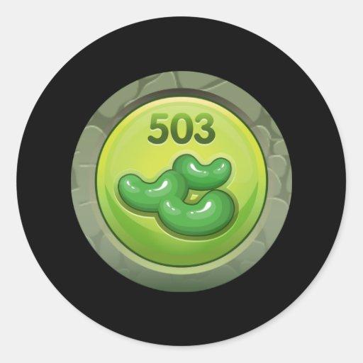 Glitch: achievement bean counter round stickers