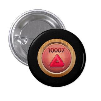 Glitch: achievement exceptionally fine refiner red 3 cm round badge