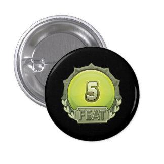 Glitch: achievement five feat under 3 cm round badge