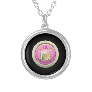 Glitch: achievement -ix completist round pendant necklace