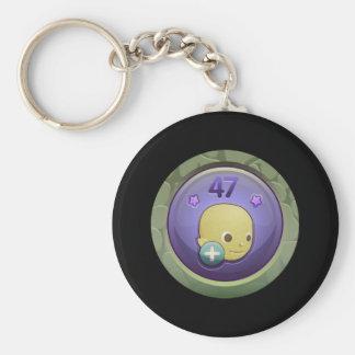 Glitch: achievement jolly good chap basic round button key ring