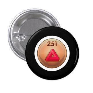 Glitch Achievement minor refiner red class 3 Cm Round Badge