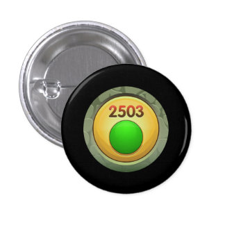 Glitch Achievement pretty fine refiner green class 3 Cm Round Badge