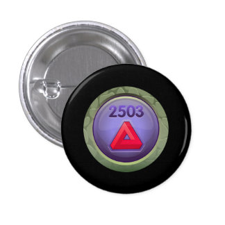 Glitch Achievement pretty fine refiner red class.p 3 Cm Round Badge