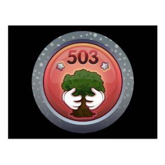 Glitch: achievement tree hugger postcard