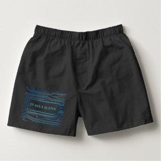 Glitch concept. boxers