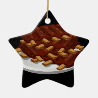 Glitch Food abbasid ribs Christmas Ornament