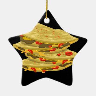 Glitch Food spicy quesadilla Christmas Ornament
