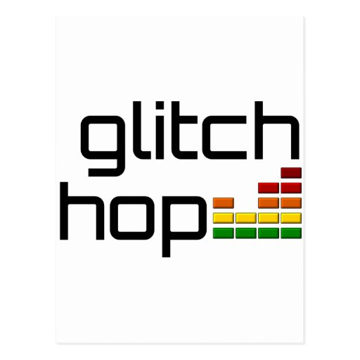 Glitch Hop with Volume Equalizer Postcard
