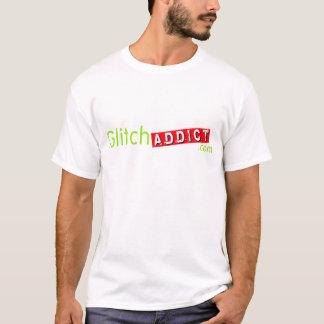 GlitchAddict.com Unisex White T-Shirt