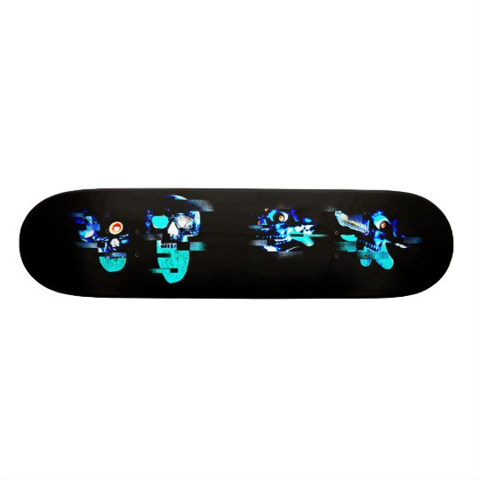Glitching out skateboard decks