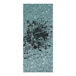 Glitter Ape 10 Cm X 24 Cm Invitation Card