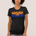 Glitter Arizona flag ladies tshirt