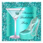 Glitter Bachelorette Party Aqua Teal Blue