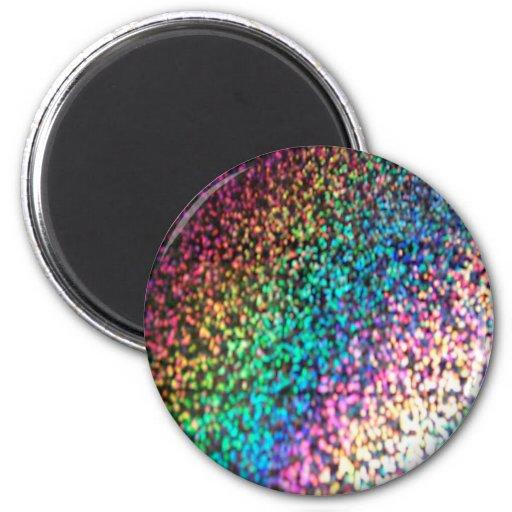 Glitter background fridge magnets