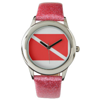 Glitter Band Dive Flag Watch